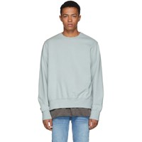 Ksubi Green Seeing Lines Crewneck Sweatshirt