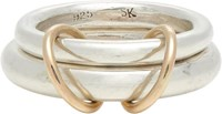 Spinelli Kilcollin Sterling Silver And Rose Gold 'Virgo' Ring Gold Size