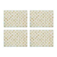 Mackenzie Childs Parchment Check Cork Back Placemats Set Of 4