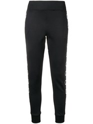 Karl Lagerfeld Logo Lined Track Trousers Black