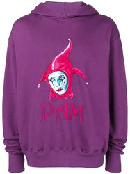 P.A.M. Perks And Mini Pam Clown Embroidered Hoodie Pink And Purple