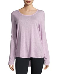 Marc New York Knit Keyhole Tee Purple
