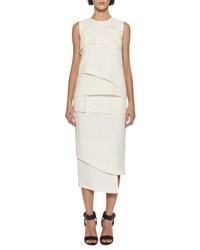 Tom Ford Tiered Heavy Basketweave Top White