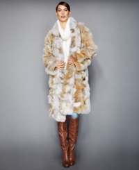 The Fur Vault Pieced Coyote Fur Coat Multi