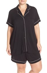 Plus Size Women's Nordstrom Lingerie 'Moonlight' Short Pajamas Black
