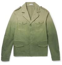 Tomas Maier Degrade Stretch Cotton Field Jacket Green