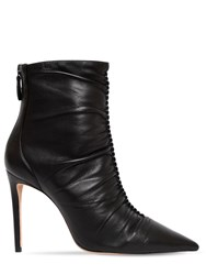 Alexandre Birman 100Mm Susanna Leather Ankle Boots Black