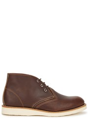 Red Wing Shoes Brown Leather Chukka Boots Dark Brown