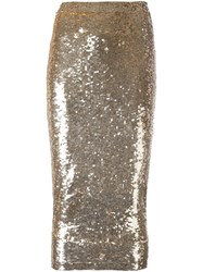 P.A.R.O.S.H. Sequined Skirt Metallic