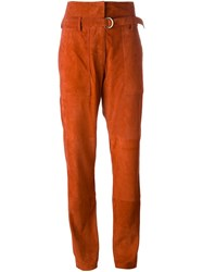 Vanessa Bruno Belted Trousers Yellow And Orange