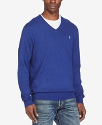 Polo Ralph Lauren Men's V Neck Sweater Royal Blue