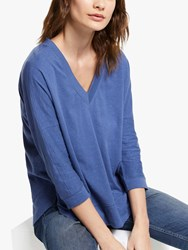 And Or Slouchy V Neck T Shirt Smudge Blue