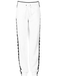 Puma Lace Up Detail Track Pants White