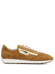 Prada Milano Suede Trainers Brown