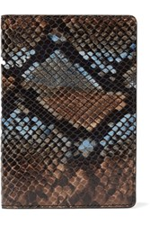 The Case Factory Python Effect Leather Passport Cover Blue