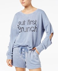 Material Girl Active Juniors' Cutout Graphic Sweatshirt Created For Macy's Infinity