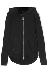 Atm Anthony Thomas Melillo French Cotton Terry Hooded Top Black