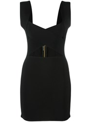 Balmain Bandage Mini Dress Black