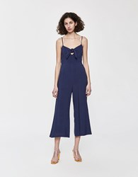 Stelen Toni Bow Front Jumpsuit In Navy