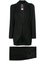 John Galliano Vintage Jacket And Trouser Suit Black