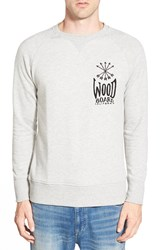 Azul By Moussy Graphic French Terry Crewneck Sweatshirt Grey