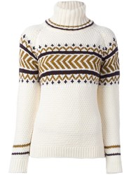 Anddaughter 'Texture Fairisle' Jumper White