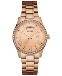 Guess Women's Rose Gold Tone Stainless Steel Bracelet Watch 37Mm U0764l3