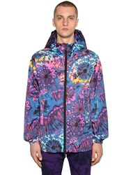 Dsquared Hooded Printed Nylon Casual Jacket Multicolor