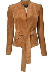 Derek Lam Belted Jacket Brown