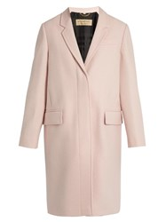 Burberry Alphington Single Breasted Wool Coat Light Pink
