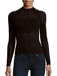 Narciso Rodriguez Long Sleeve Corduroy Top Black