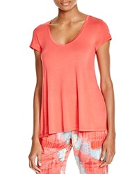 Josie Scoop Neck Tee Guava