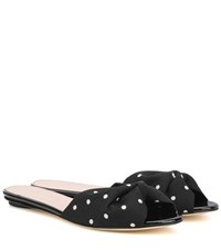 Oscar De La Renta Mia 5Mm Polka Dotted Sandals Black