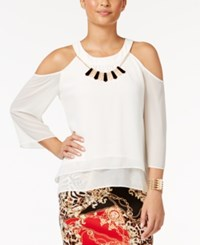 Thalia Sodi Cold Shoulder Necklace Top Only At Macy's Cloud