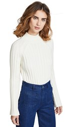 Bop Basics Wide Rib Turtleneck Sweater Winter White