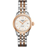 Tissot T41218333 Women's Le Locle Automatic Date Two Tone Bracelet Strap Watch Silver Rose Gold
