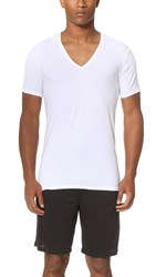 Calvin Klein Underwear Liquid Stretch Short Sleeve Untuckable V Neck Tee White
