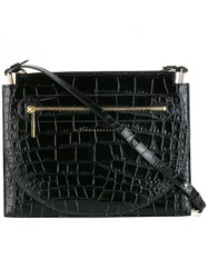 Victoria Beckham Crocodile Effect Crossbody Bag Black