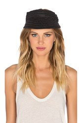Seafolly Darby Roll Up Visor Black