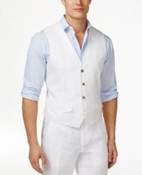 Tasso Elba Men's Big And Tall Linen Vest Only At Macy's