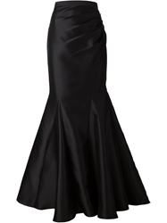 Badgley Mischka Mermaid Fit Godets Skirt Black