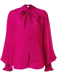 Redemption Polka Dot Blouse Pink And Purple