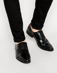Asos Derby Shoes In Black