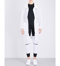 Adidas By Stella Mccartney Train Perforated Parka White