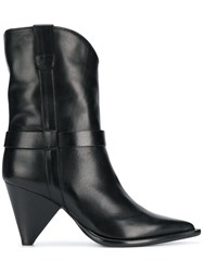 Aldo Castagna Pointed Ankle Boots Black