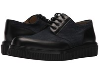 Paul Andrew Ethan Canvas Leather Oxford Indigo Black Shoes Blue