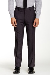 Louis Raphael Modern Fit Check Trouser Black