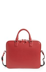 Montblanc 'S Sartorial Leather Briefcase Red