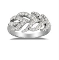 Sutra Feather Ring Silver