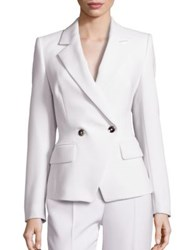 Escada Wool Double Breasted Tapered Jacket Natural